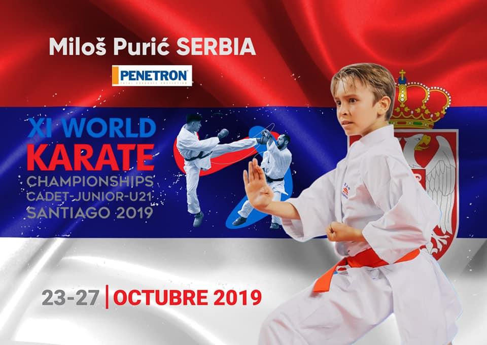 Милош Пурић представља Србију на Светском превенству у Чилеу