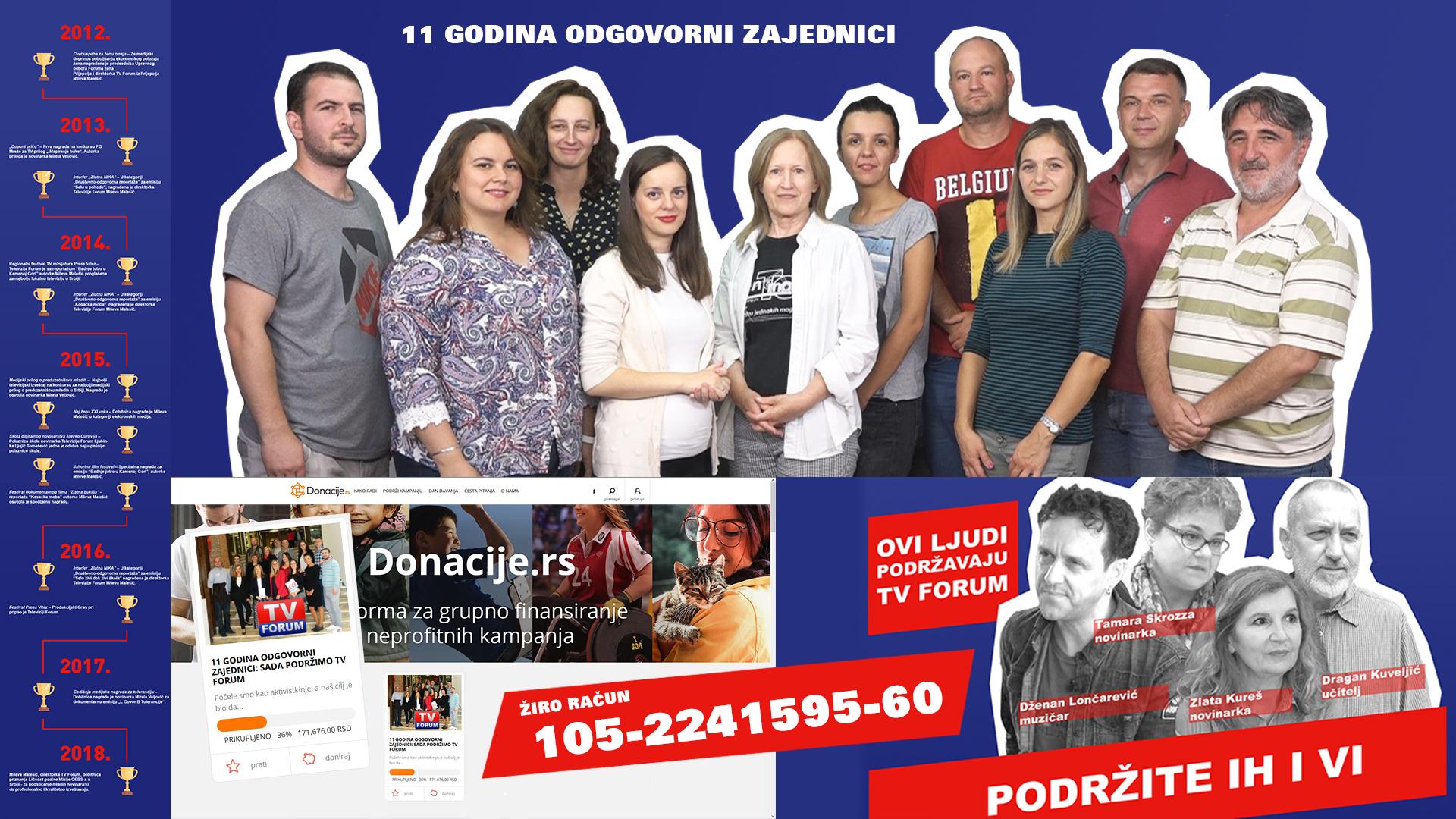Донацијска кампања ТВ Форум пример другим медијима у Србији и Западном Балкану