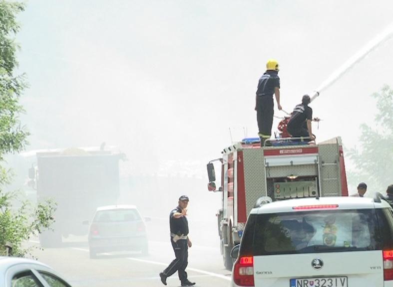 Запалио се површински део депоније Стањевине – Ватрогасци покушавају да локализују пожар