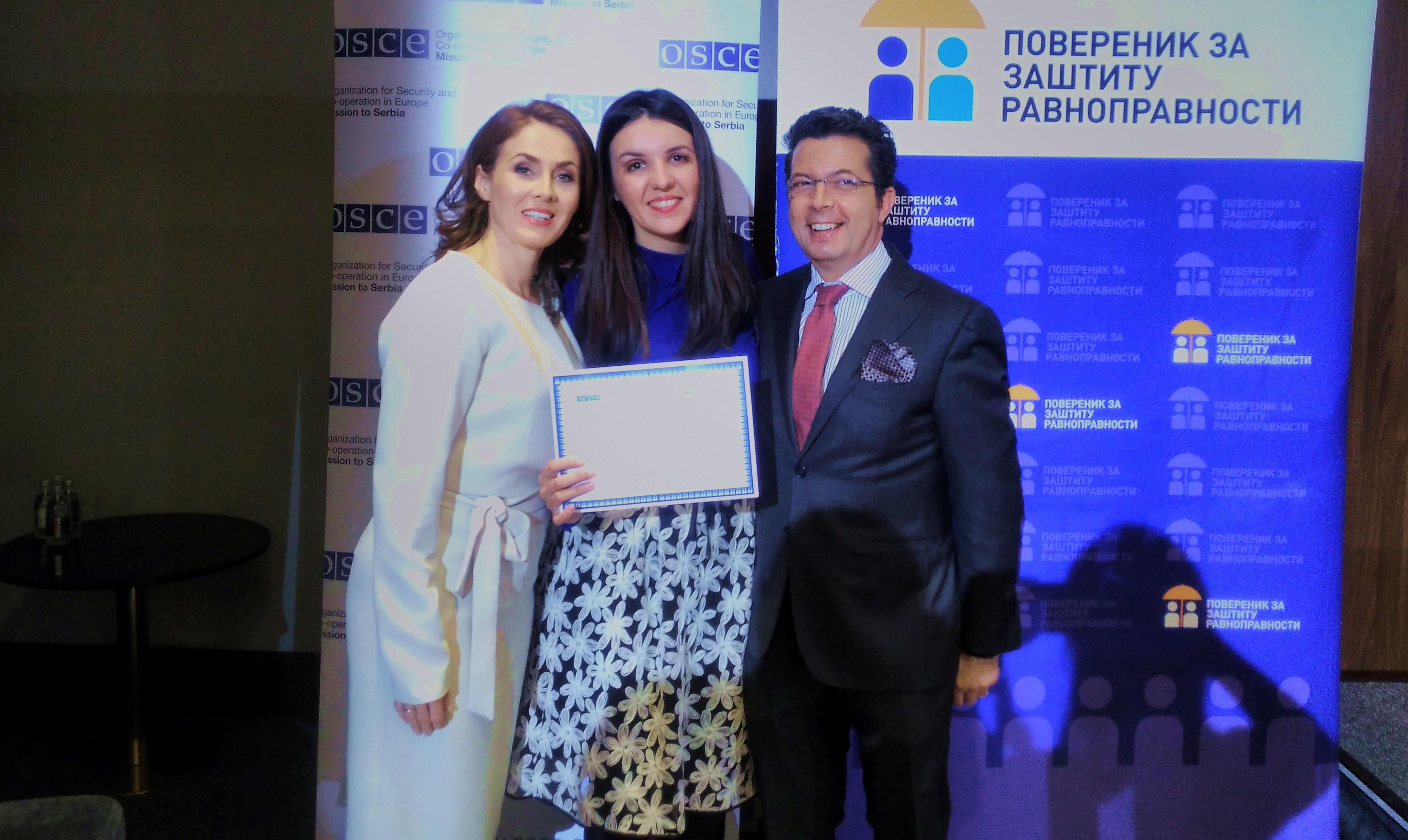 Мирела Вељовић добитница медијске награде за толеранцију