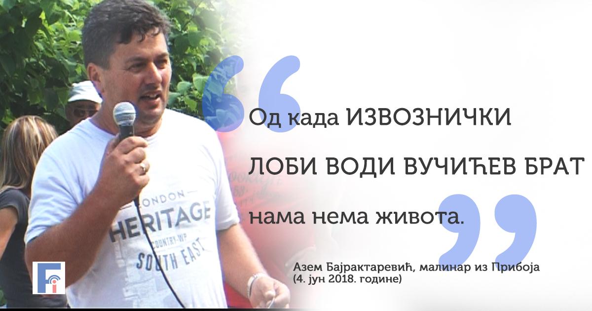 Азем Бајрактаревић о разлозима протеста малинара