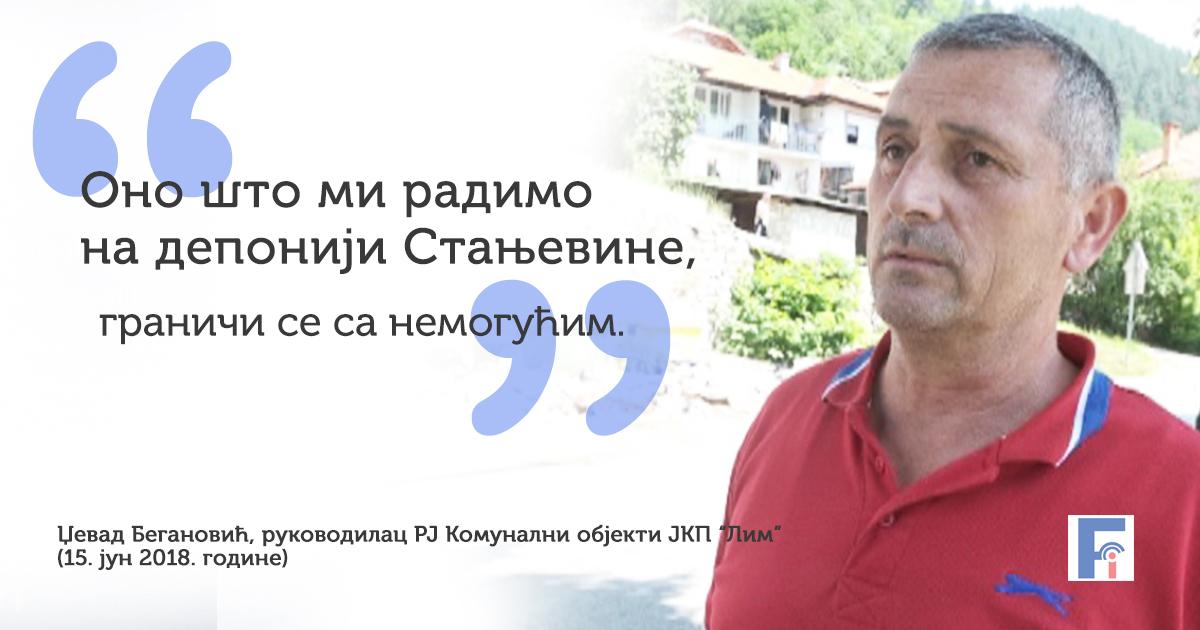 """Џевад Бегановић из ЈКП """"Лим"""" о стању на несанитарној депонији Стањевине"""
