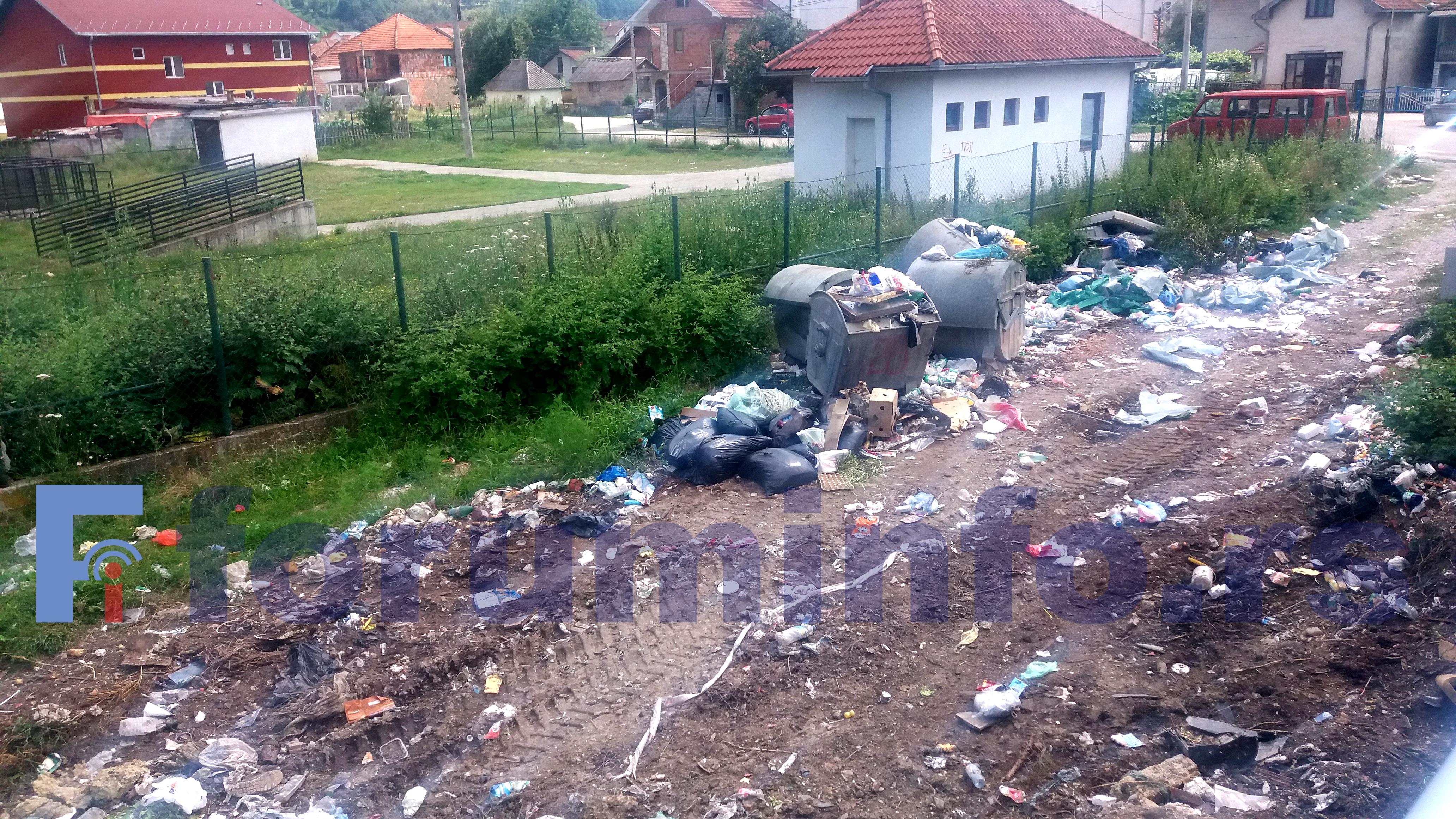Бродарево: Претрпани контејнери и смрад, на обалама Лима дивље депоније
