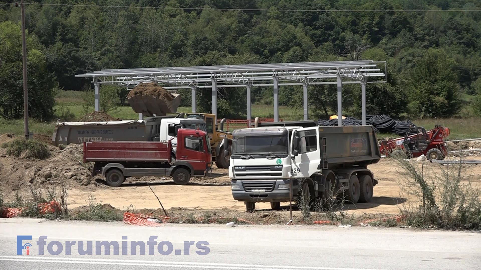 Радови на изградњи новог граничног прелаза Гостун у пуном јеку