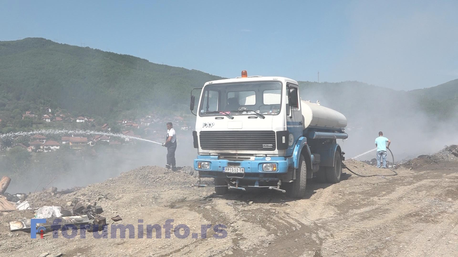 Пожар на депонији Стањевине угашен