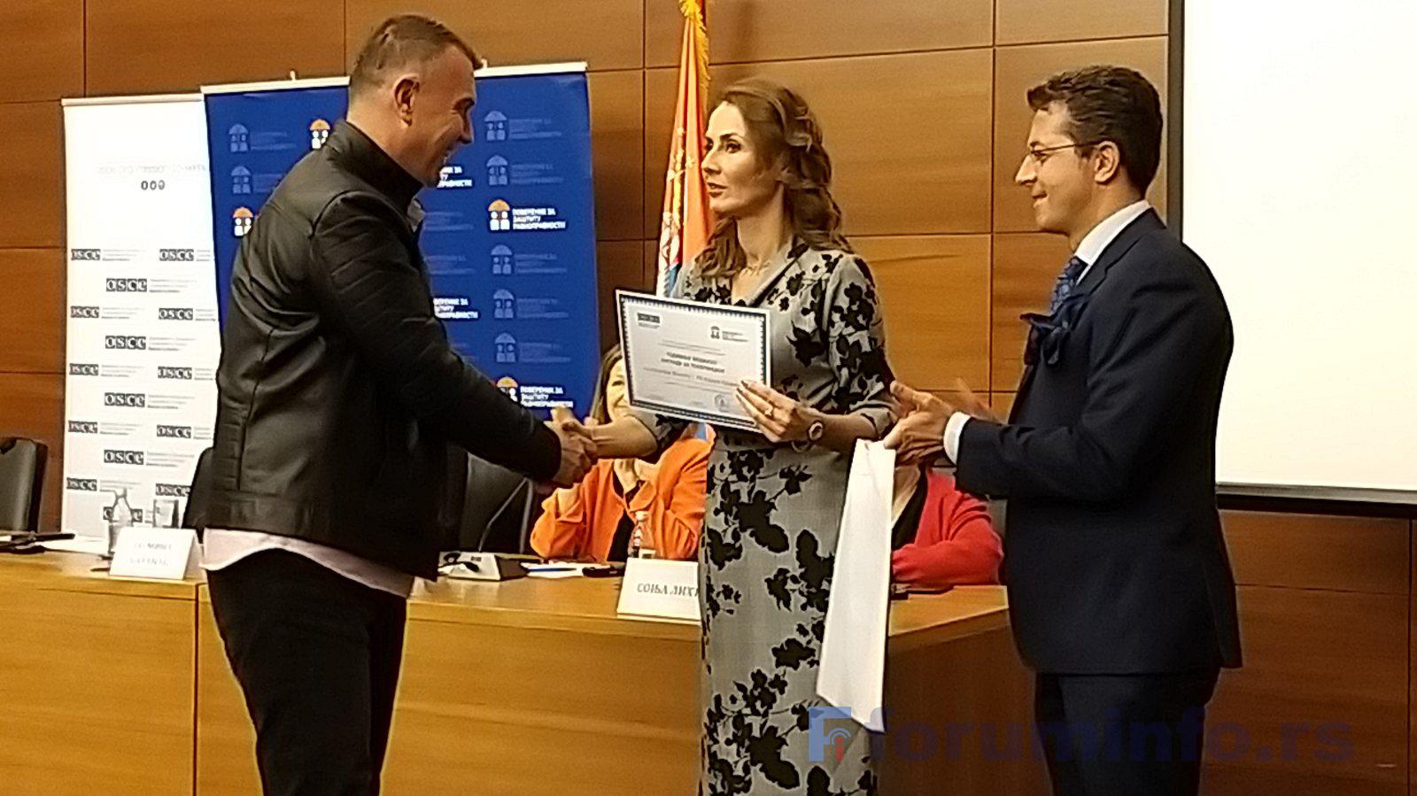 Новинар ТВ Форум Александар Минић добитник медијске награде за толеранцију