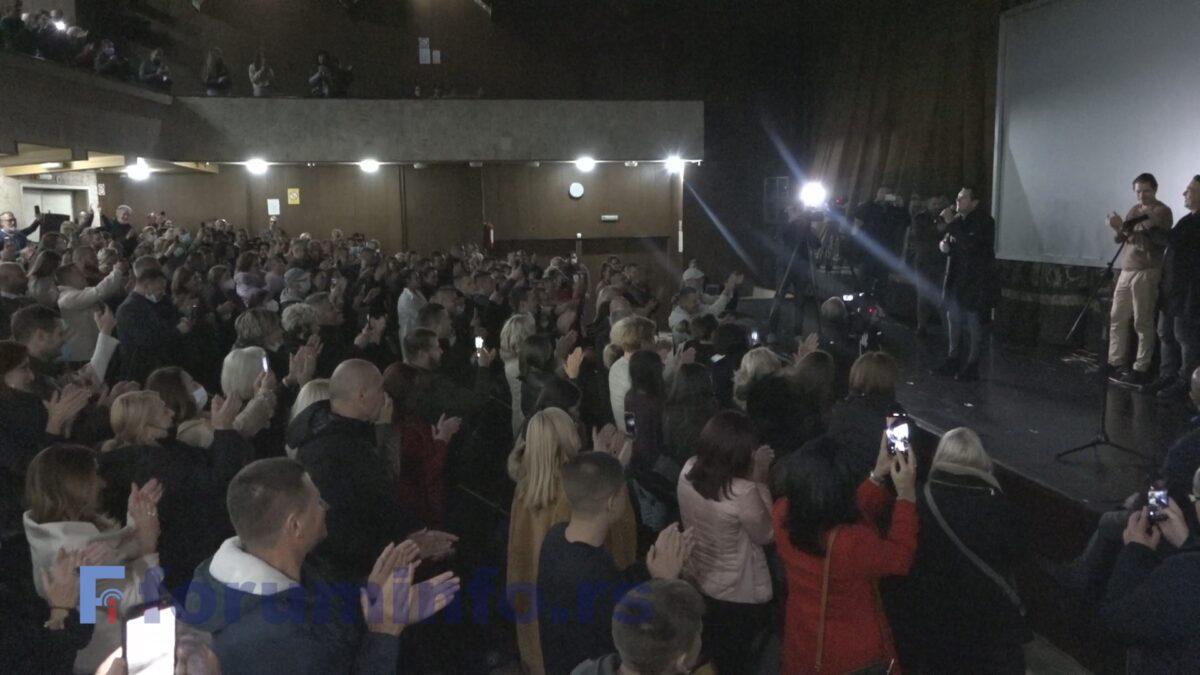 """Овације за Бјелогрлића, Јоксимовића, Пејовића и Бенчину на пројекцији """"Томе"""" у Пријепољу"""